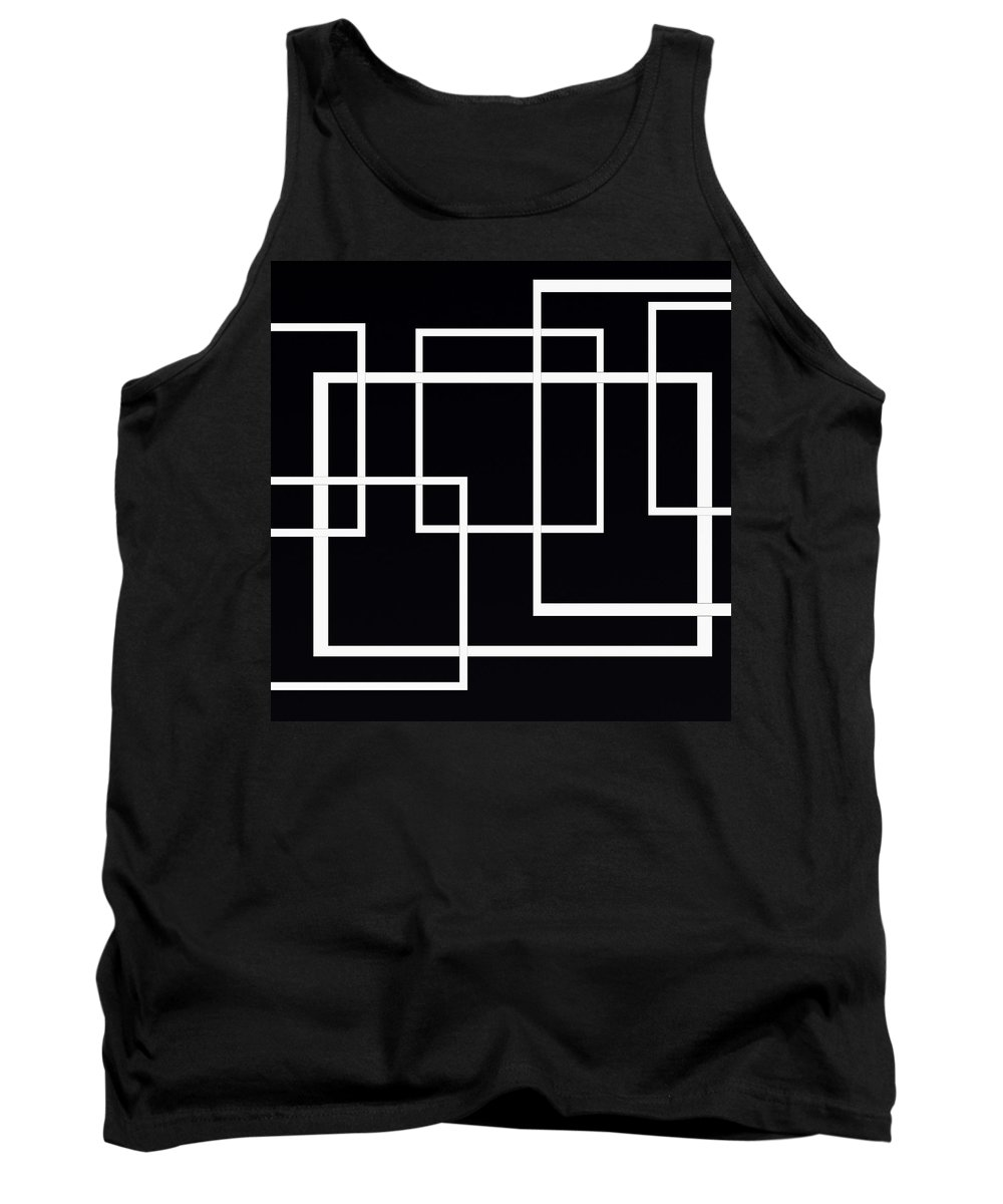 Black And White Designs Tank Top featuring the digital art Black And White Art - 145 by Ely Arsha