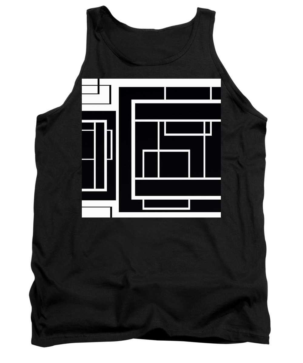 Black And White Designs Tank Top featuring the digital art Black And White Art - 153 by Ely Arsha
