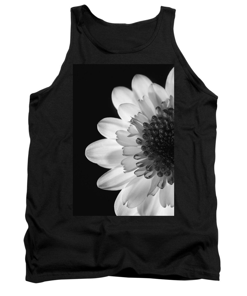 Black Tank Top featuring the photograph Black And White Flower by Darren Greenwood