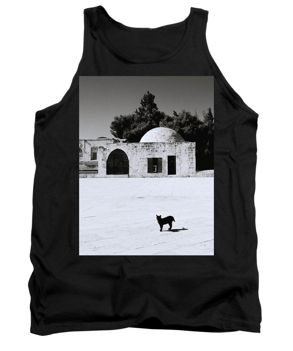Cat Tank Top featuring the photograph Black Cat by Shaun Higson