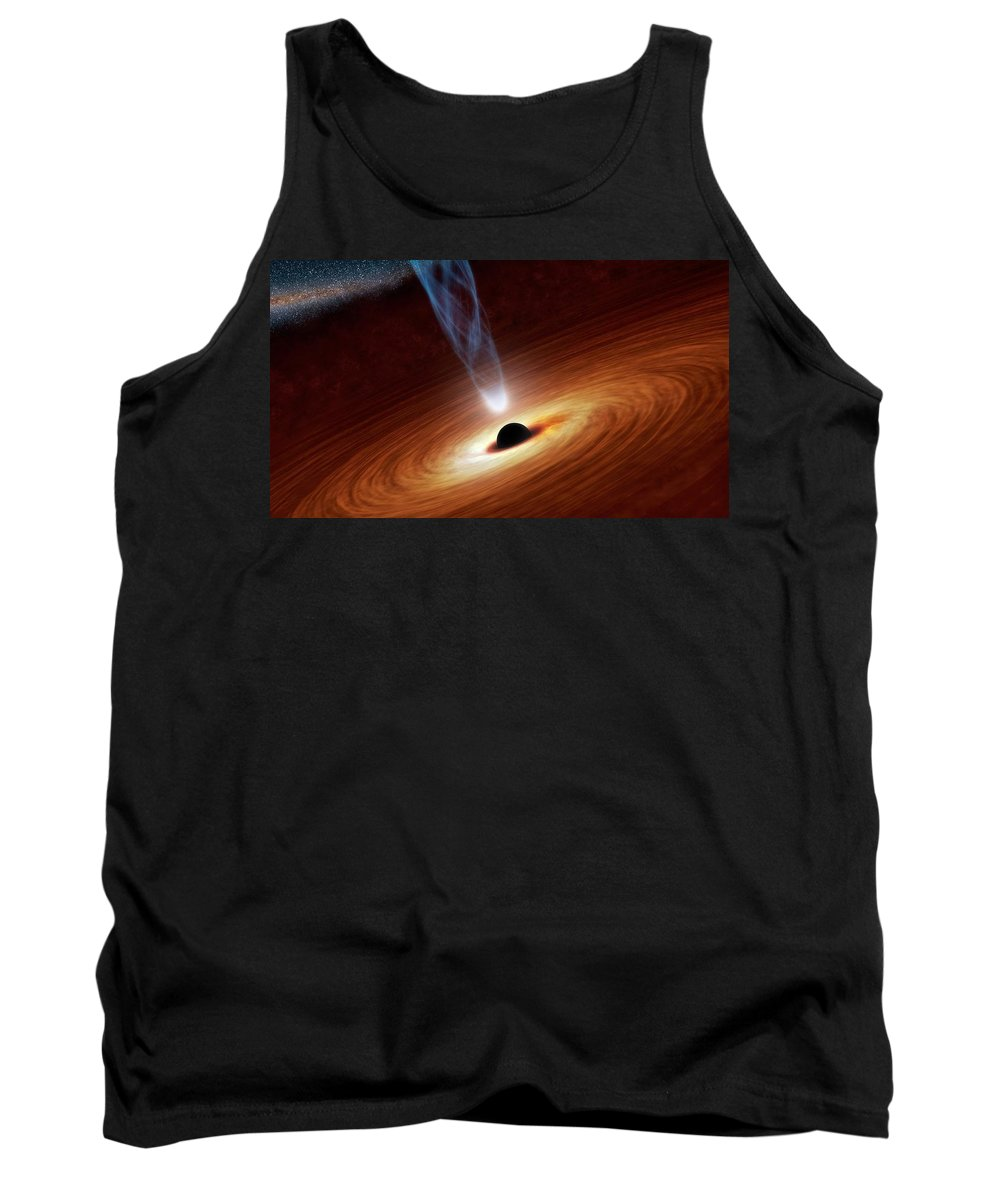 Space Tank Top featuring the photograph Black Hole by Mountain Dreams