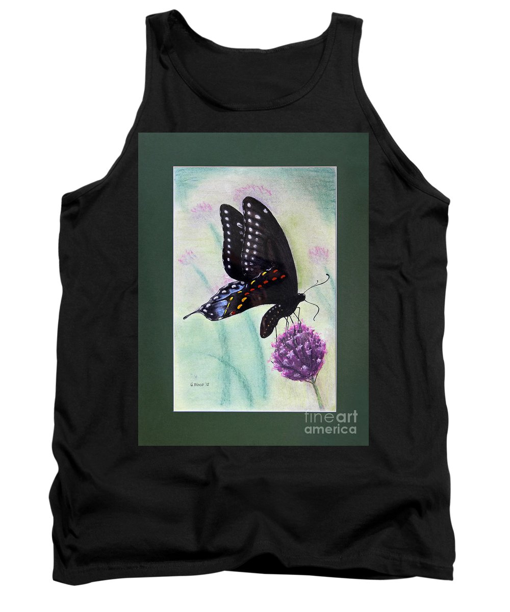 Lepidoptera Tank Top featuring the photograph Black Swallowtail Butterfly By George Wood by Karen Adams