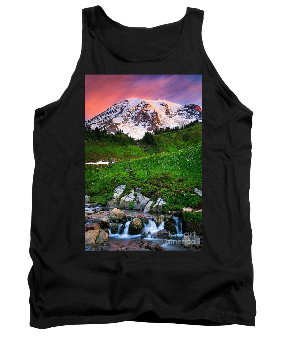 America Tank Top featuring the photograph Blazing Dawn by Inge Johnsson