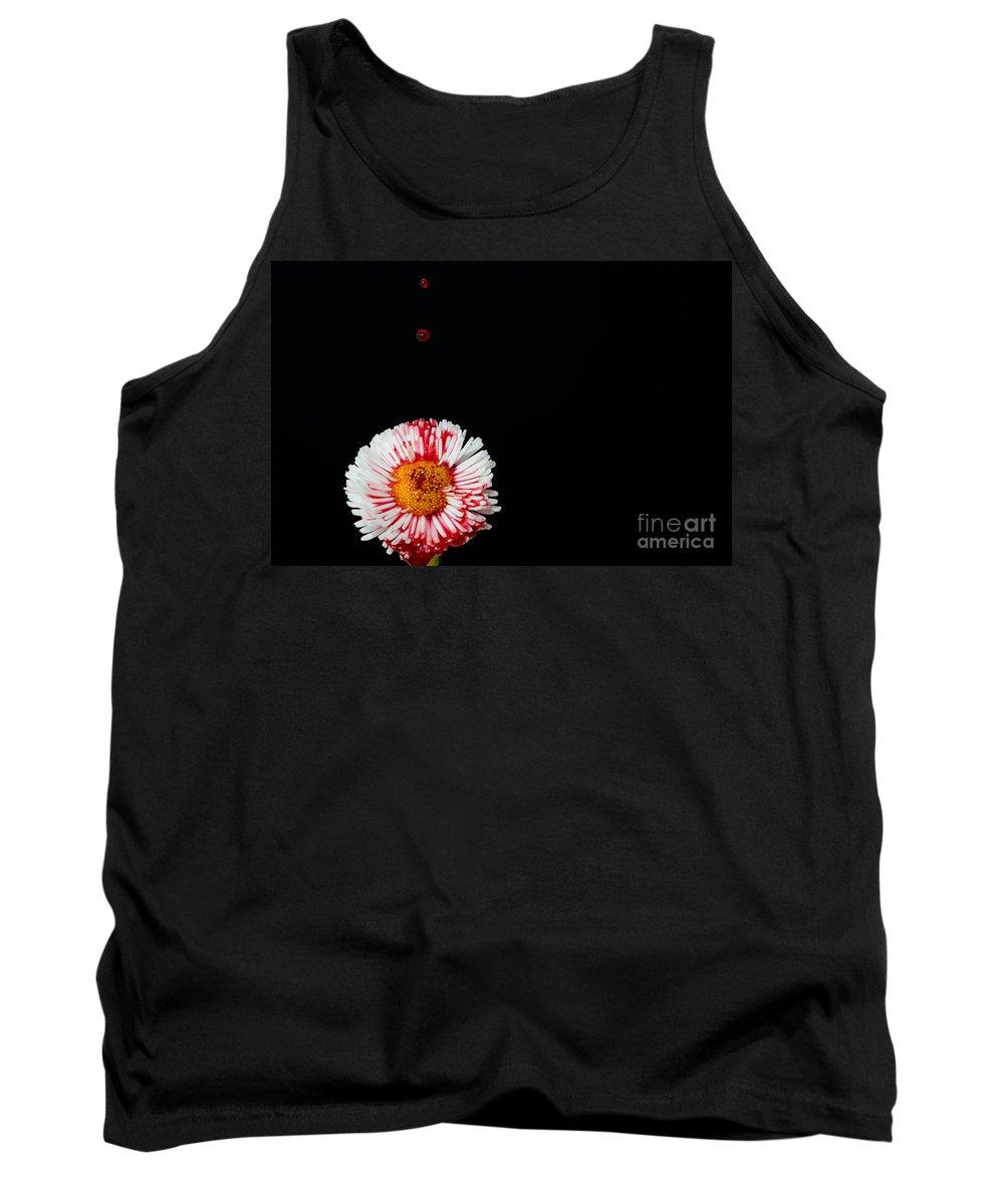 Flower Tank Top featuring the photograph Bleeding Flower by Mats Silvan