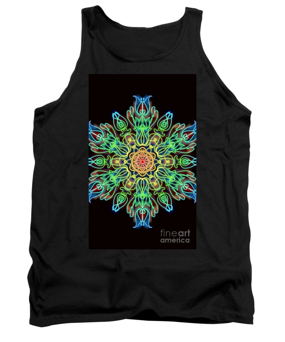 Tantras Tank Top featuring the digital art Blessing by Uma Swaminathan