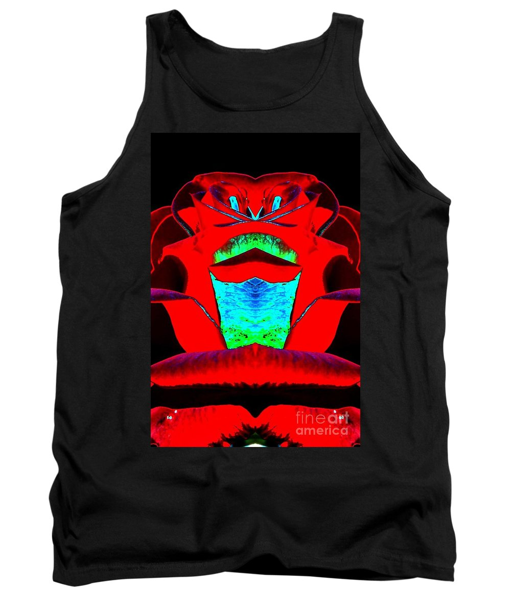 Loretta Leslie Tank Top featuring the digital art Blood Red by Lorles Lifestyles