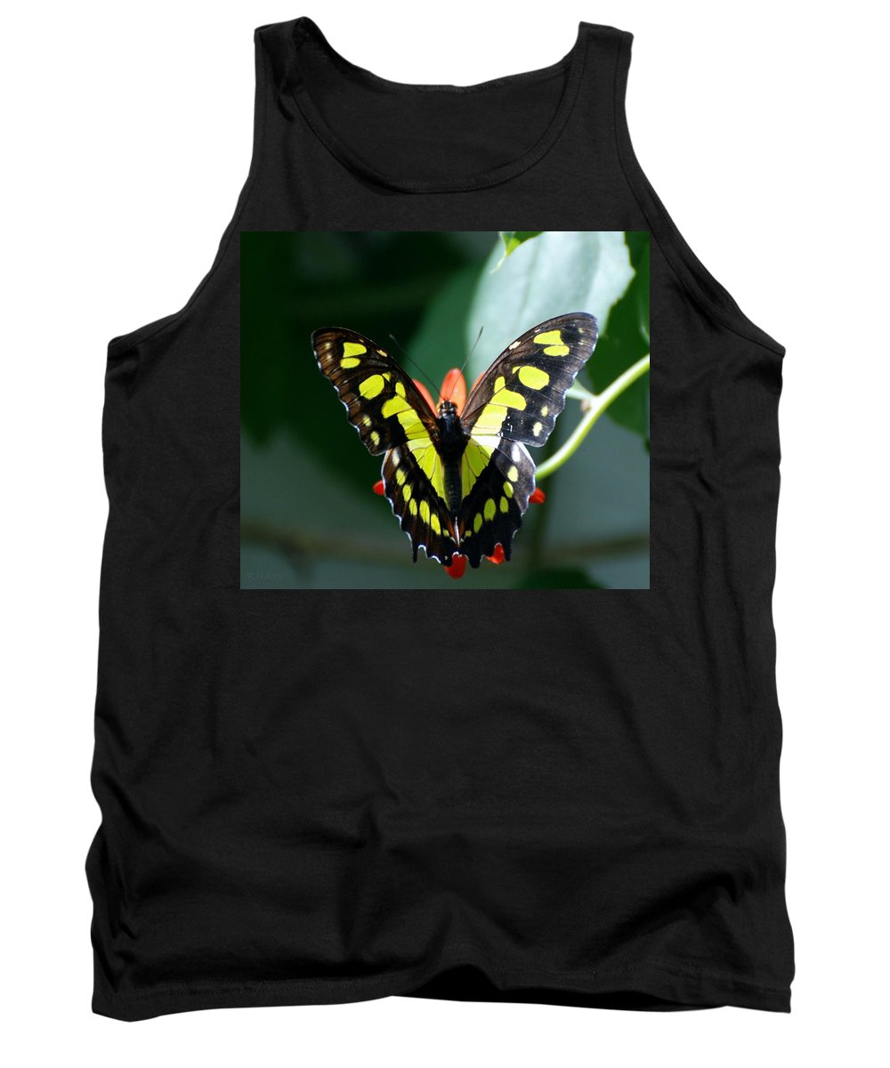 Lepidopterology Tank Top featuring the photograph Blooms And Butterfly6c by Rob Hans