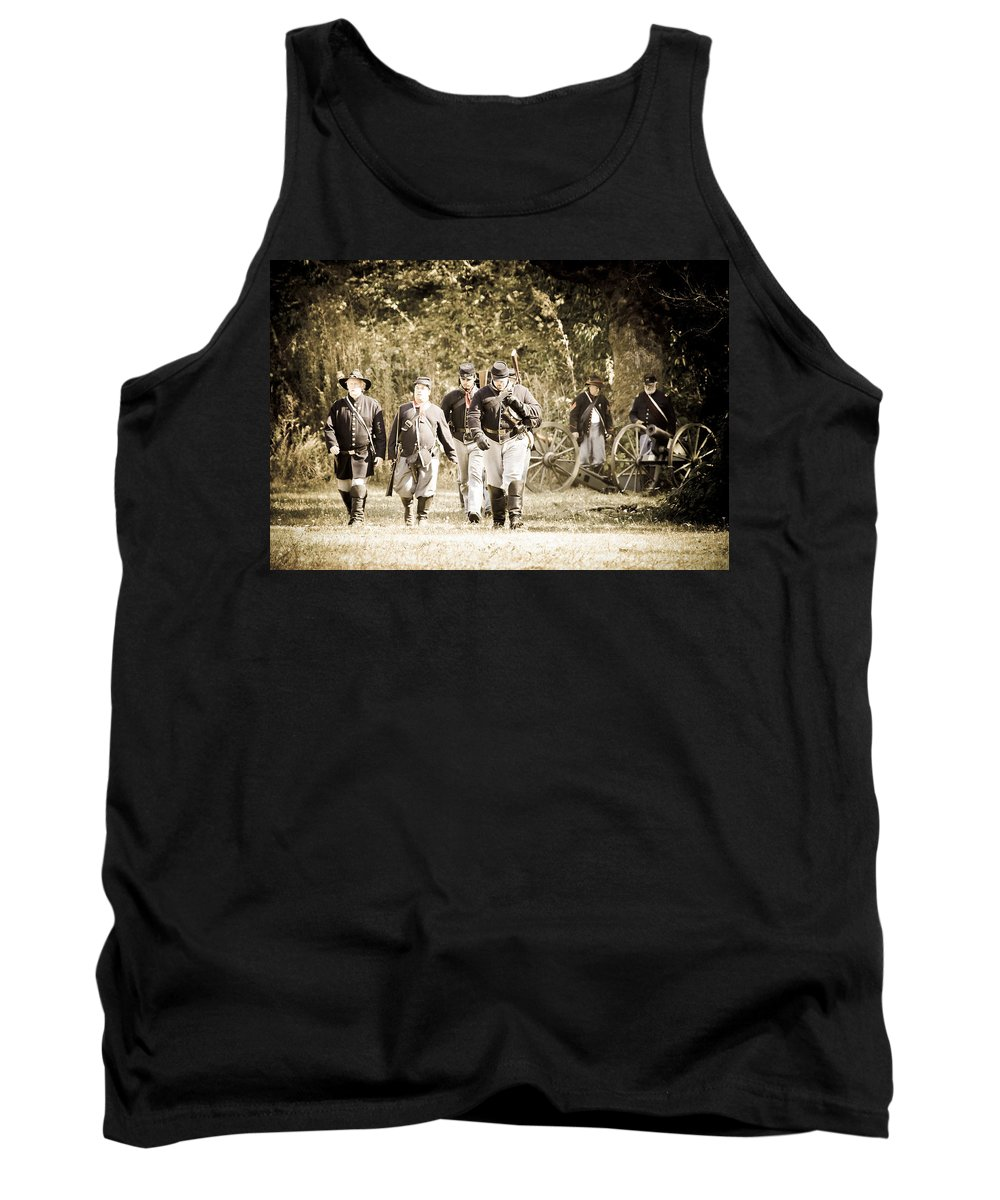 Civil War Tank Top featuring the photograph Blue Coats by Athena Mckinzie