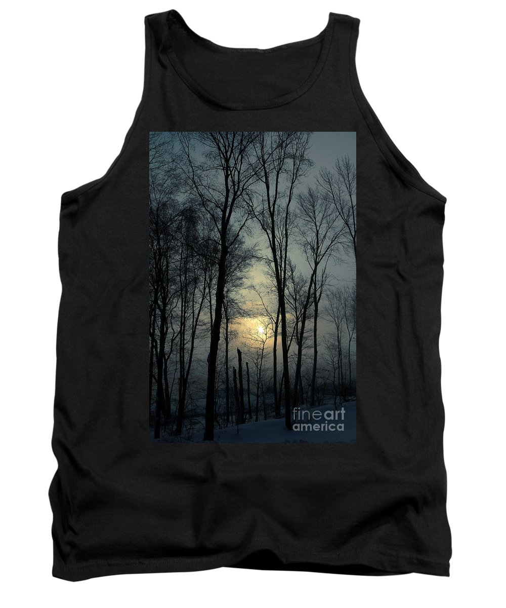 Winter Tank Top featuring the photograph Blue Daybreak by Karol Livote
