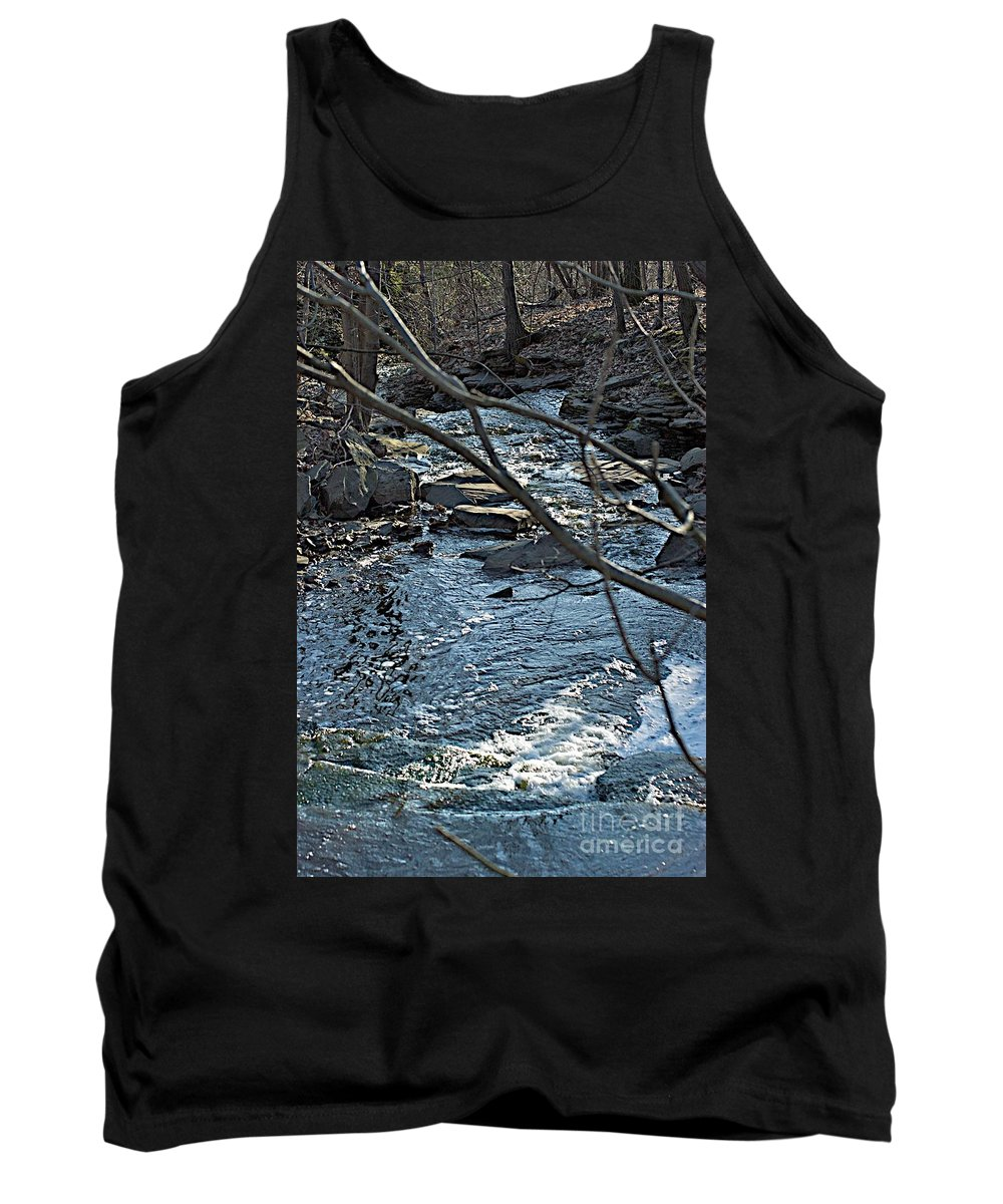 Creek Tank Top featuring the photograph Blue Light by Joseph Yarbrough