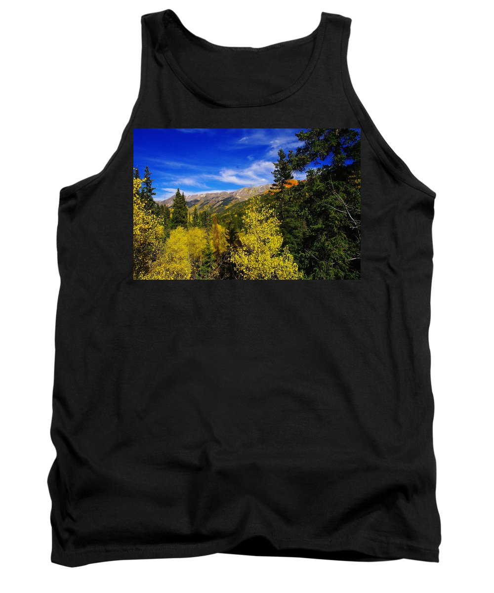 Blue Sky Tank Top featuring the photograph Blue Skies In Colorado by Jeff Swan