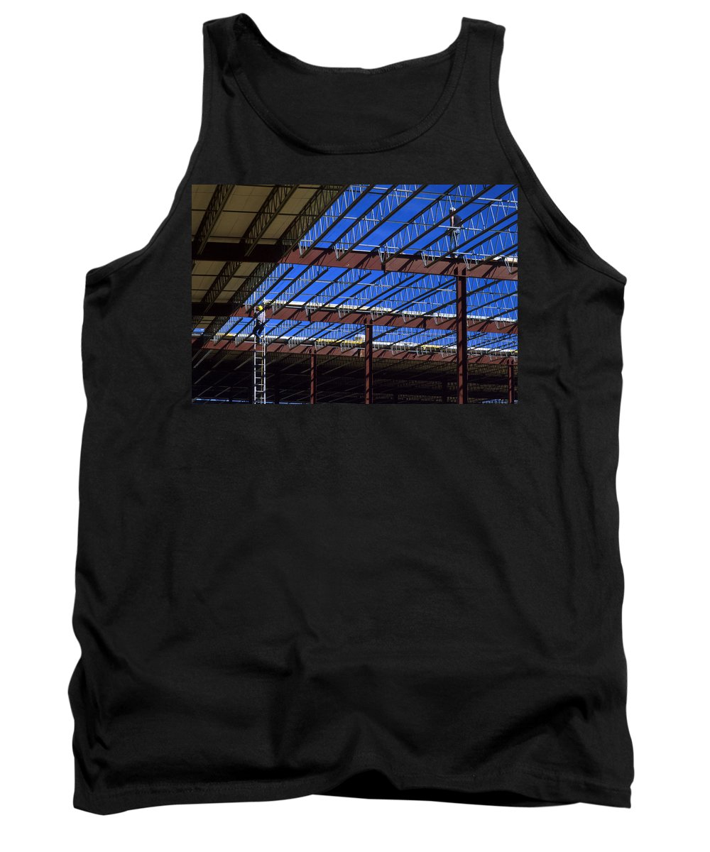 Hardhat Tank Top featuring the photograph Blue Steel by Jerry McElroy