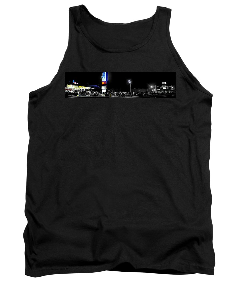 Panorama Tank Top featuring the photograph Blue Top Opening Night by Verana Stark
