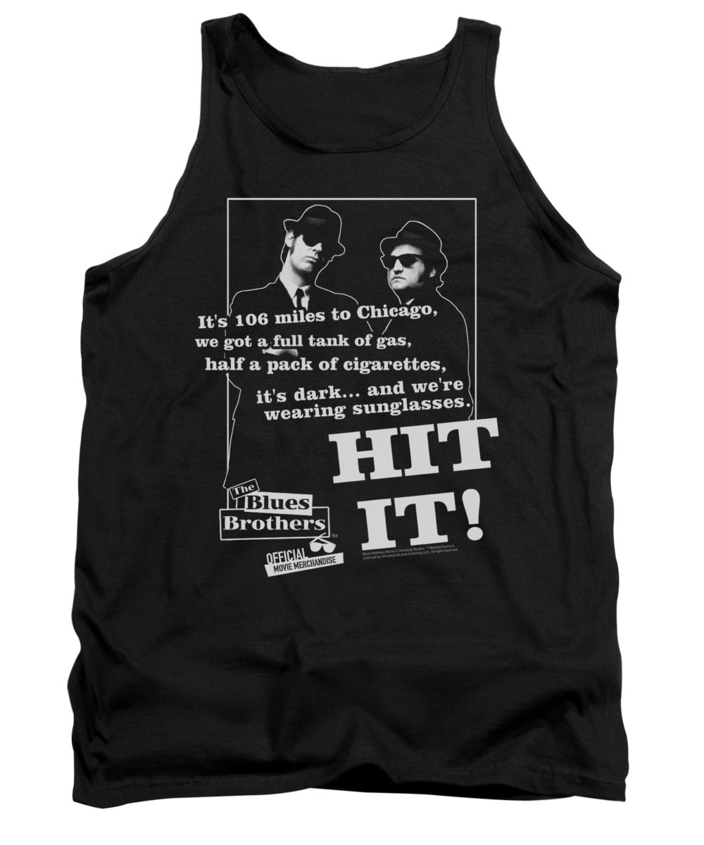 Blues Brothers Tank Top featuring the digital art Blues Brothers - Hit It by Brand A