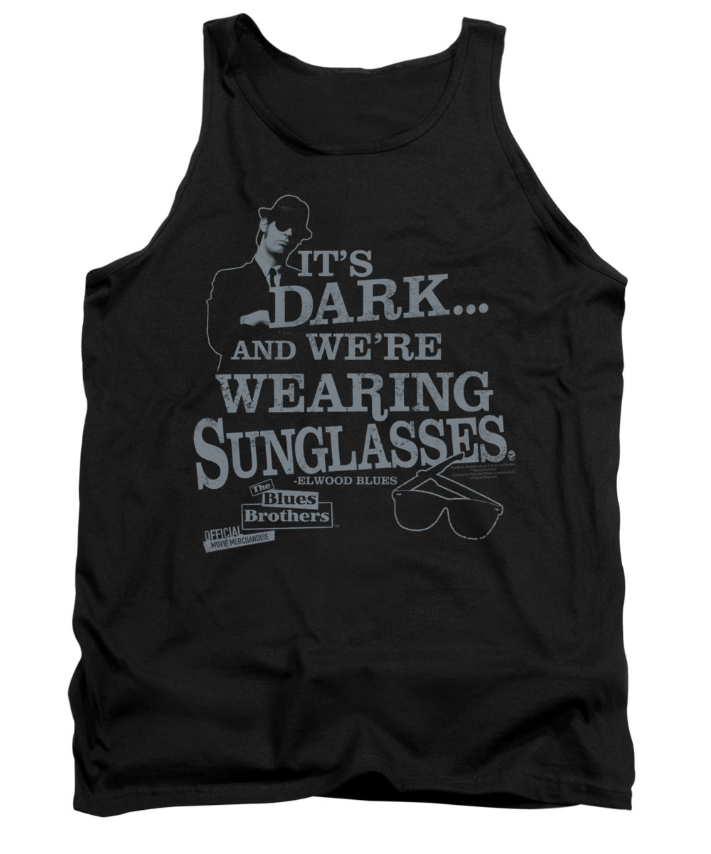 Blues Brothers Tank Top featuring the digital art Blues Brothers - Its Dark by Brand A