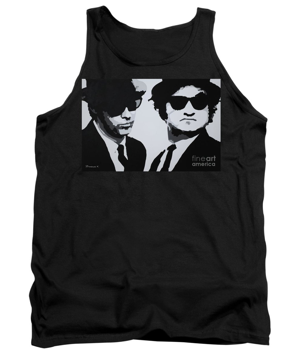 Blues Brothers Tank Top featuring the painting Blues Brothers by Katharina Filus