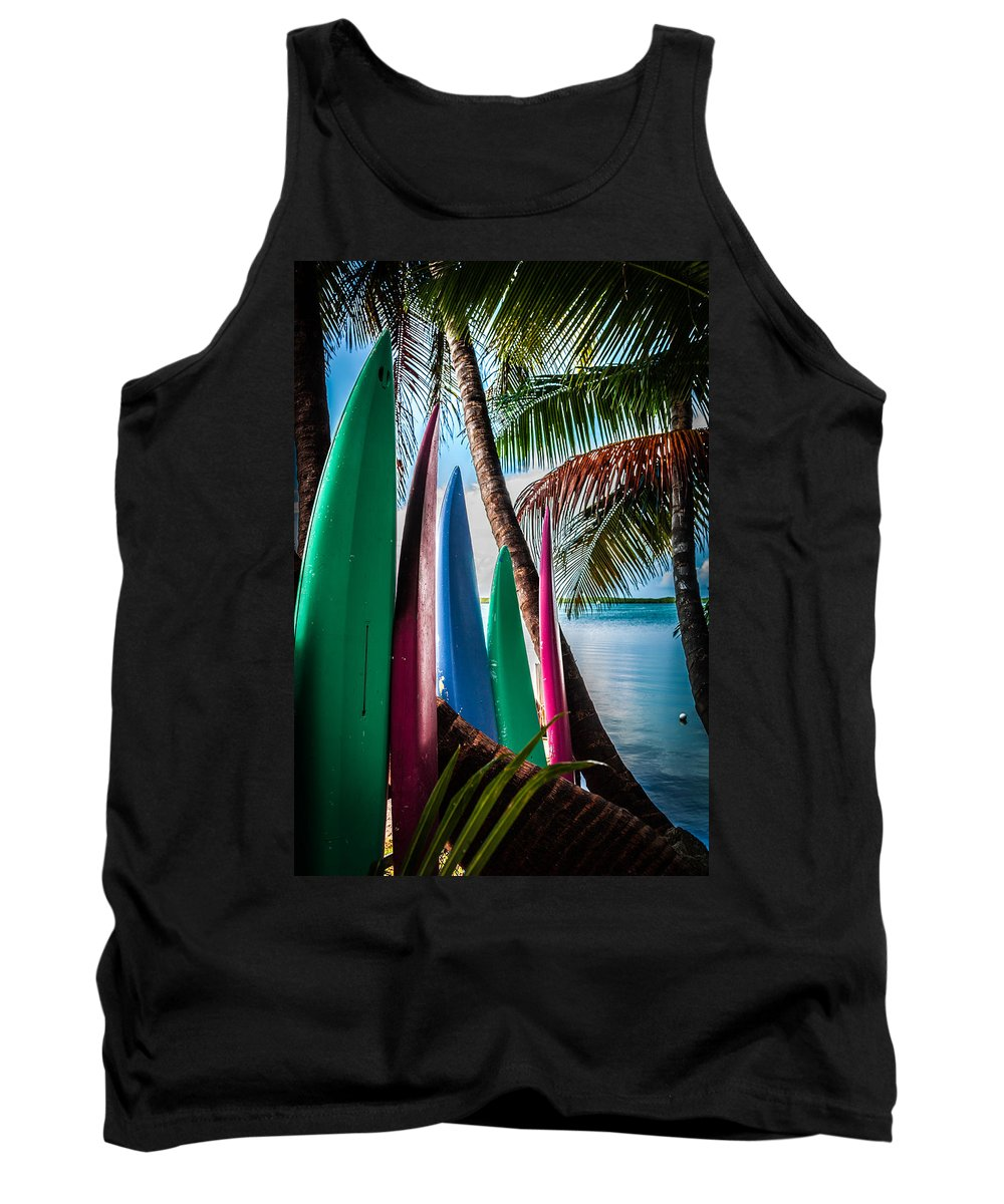 Surfboards Tank Top featuring the photograph Boards Of Surf by Karen Wiles