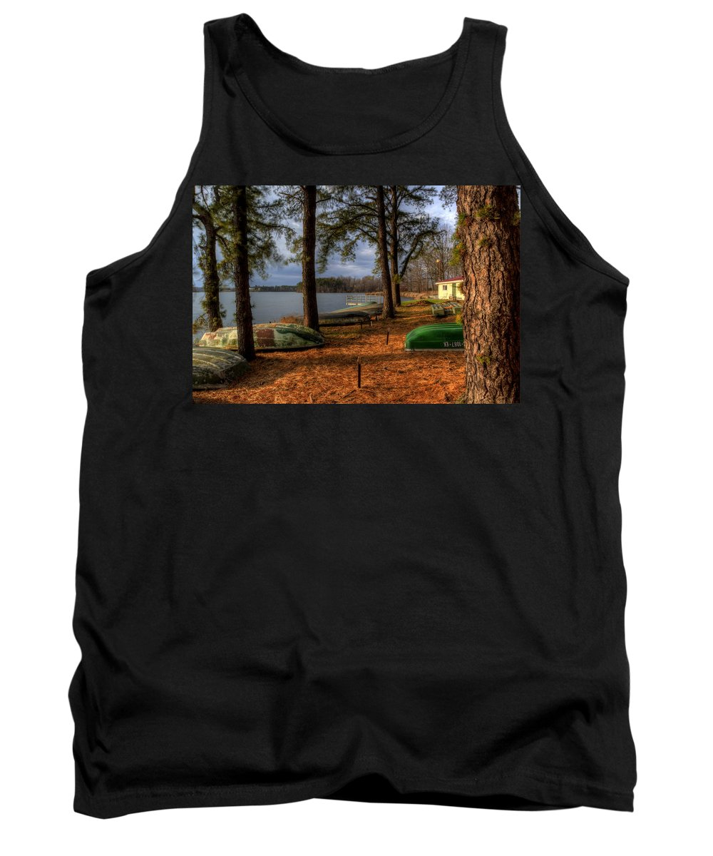 Boat Livery Tank Top featuring the photograph Boat Rentals by David Dufresne