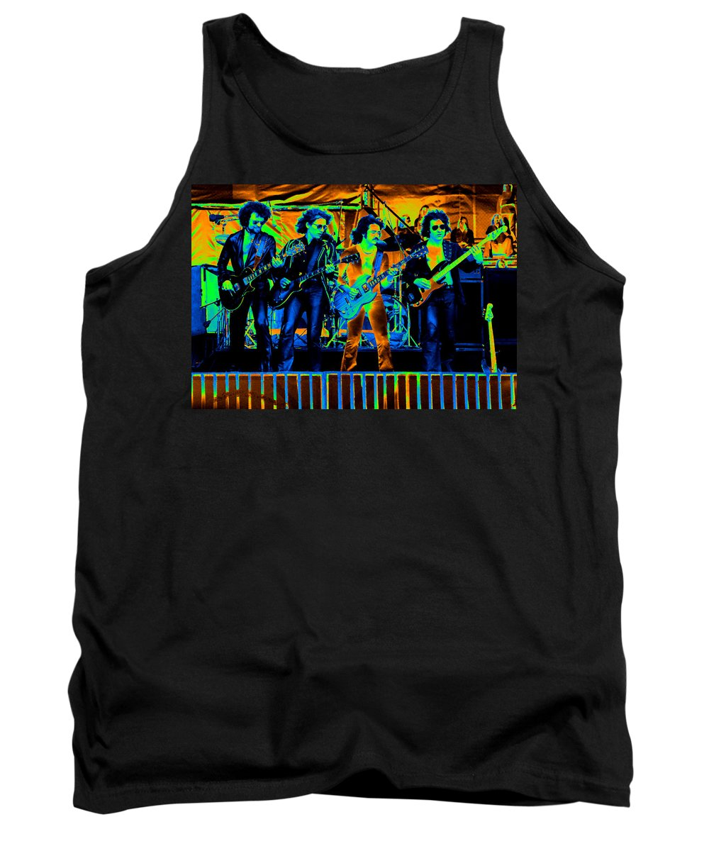 Blue Oyster Cult Tank Top featuring the photograph Boc #103 In Cosmicolors by Ben Upham