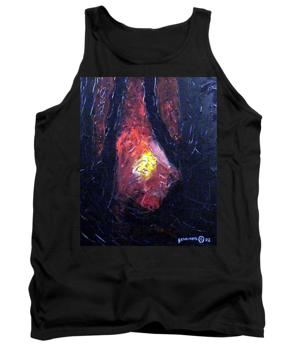 Landscape Tank Top featuring the painting Bonefire by Sergey Bezhinets