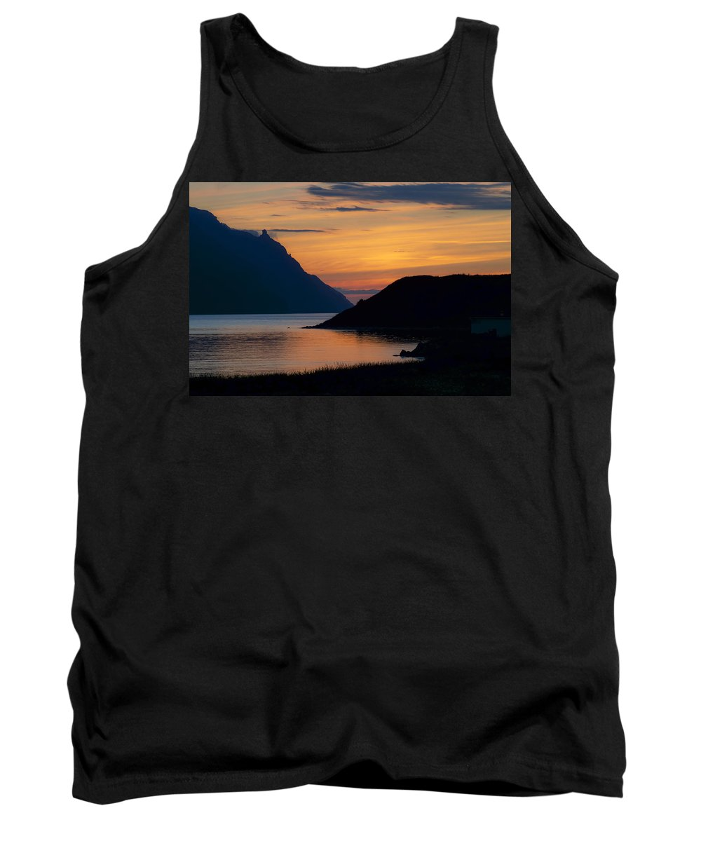 Newfoundland Tank Top featuring the photograph Bonne Bay Sunset by David Stone