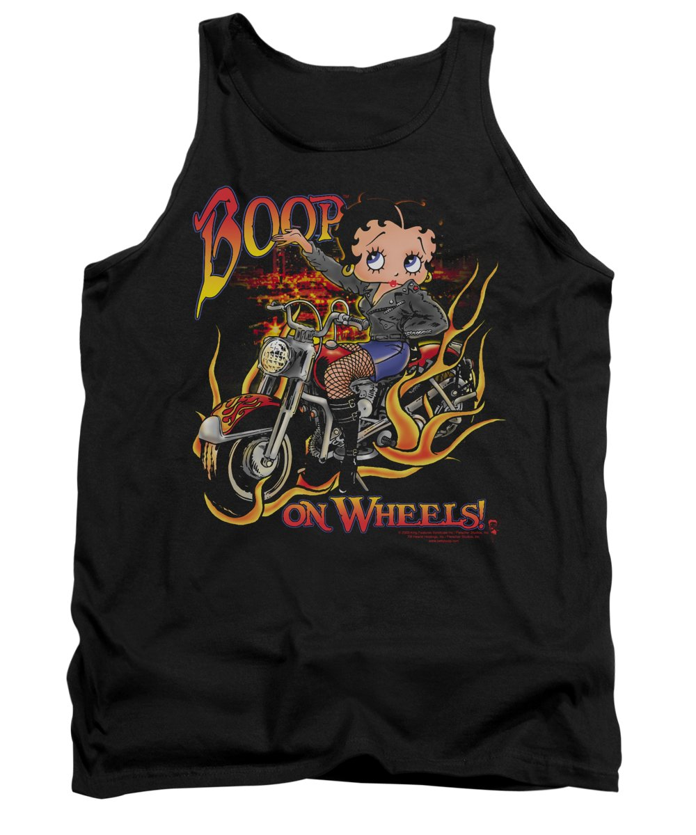 Betty Boop Tank Top featuring the digital art Boop - On Wheels by Brand A
