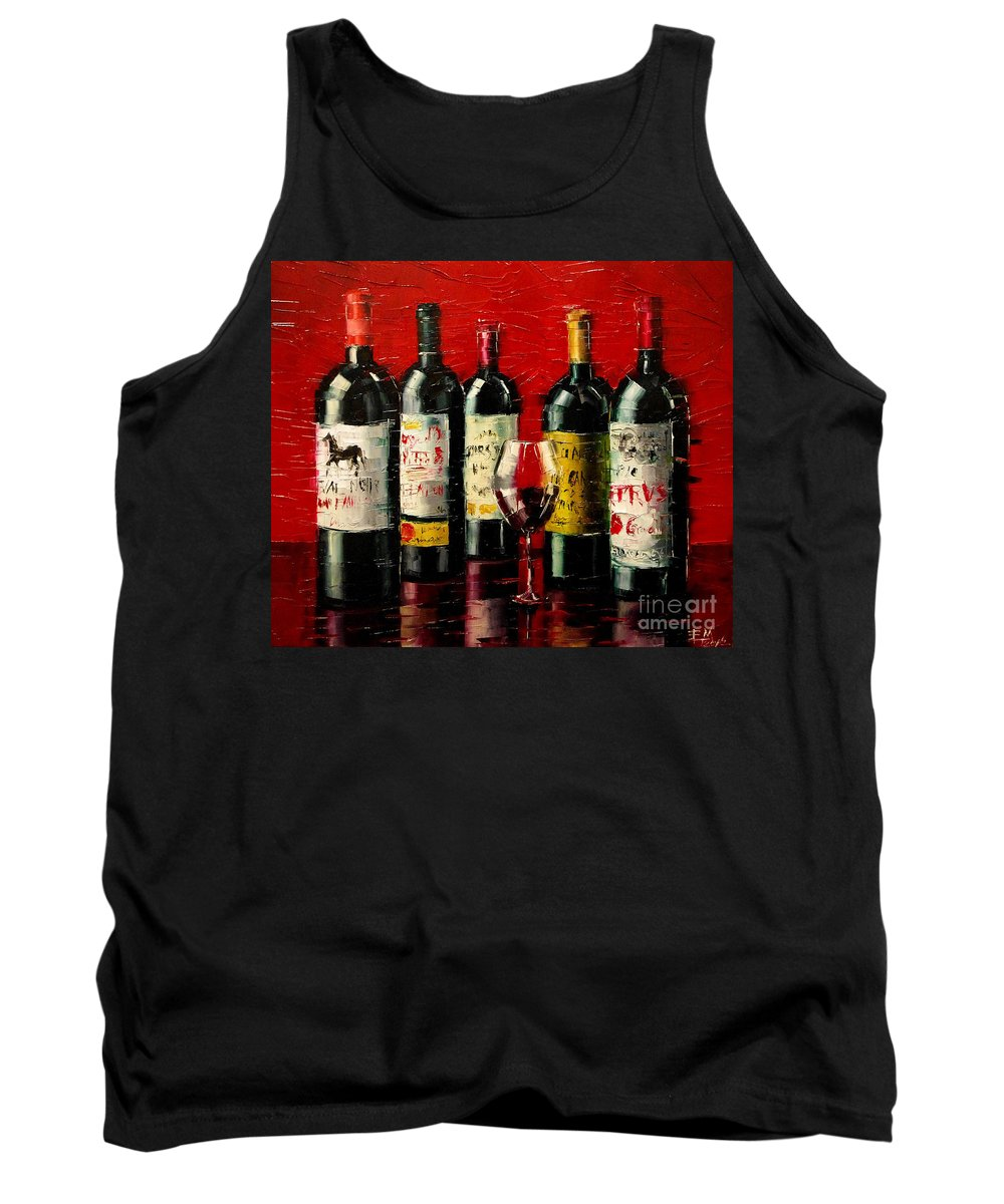 Bordeaux Collection Tank Top featuring the painting Bordeaux Collection by Mona Edulesco