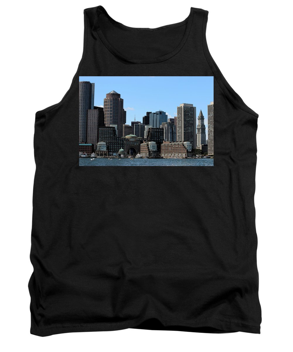 Boston Harbor Tank Top featuring the photograph Boston Harbor by Vincent White