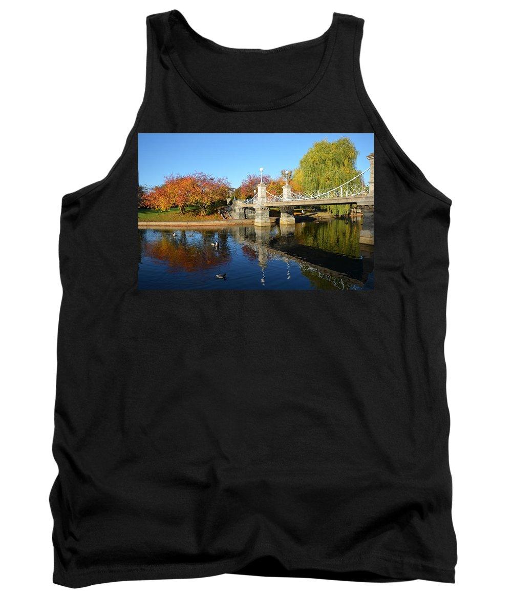Boston Tank Top featuring the photograph Boston Public Garden Autumn by Toby McGuire