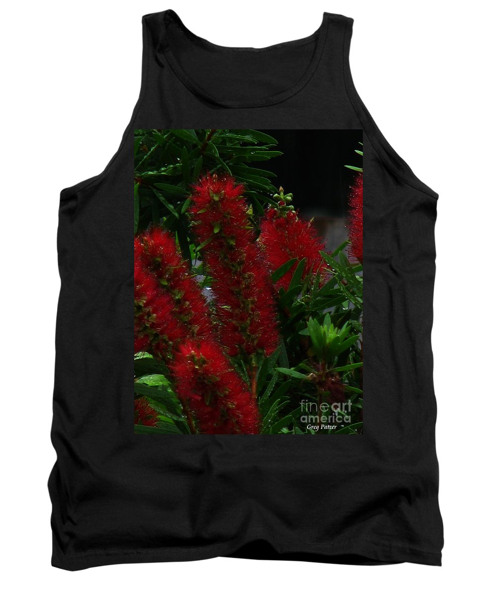 Patzer Tank Top featuring the photograph Bottle Brush by Greg Patzer