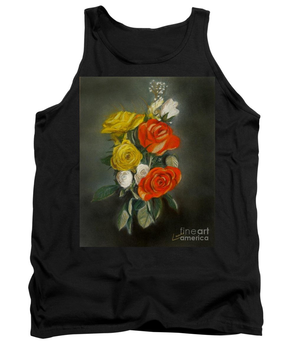 Soft Pastel Tank Top featuring the pastel Bouquet Of Flowers by Lance Sheridan-Peel