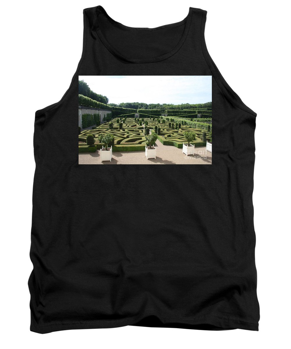Garden Tank Top featuring the photograph Boxwood Garden Design - Chateau Villandry by Christiane Schulze Art And Photography