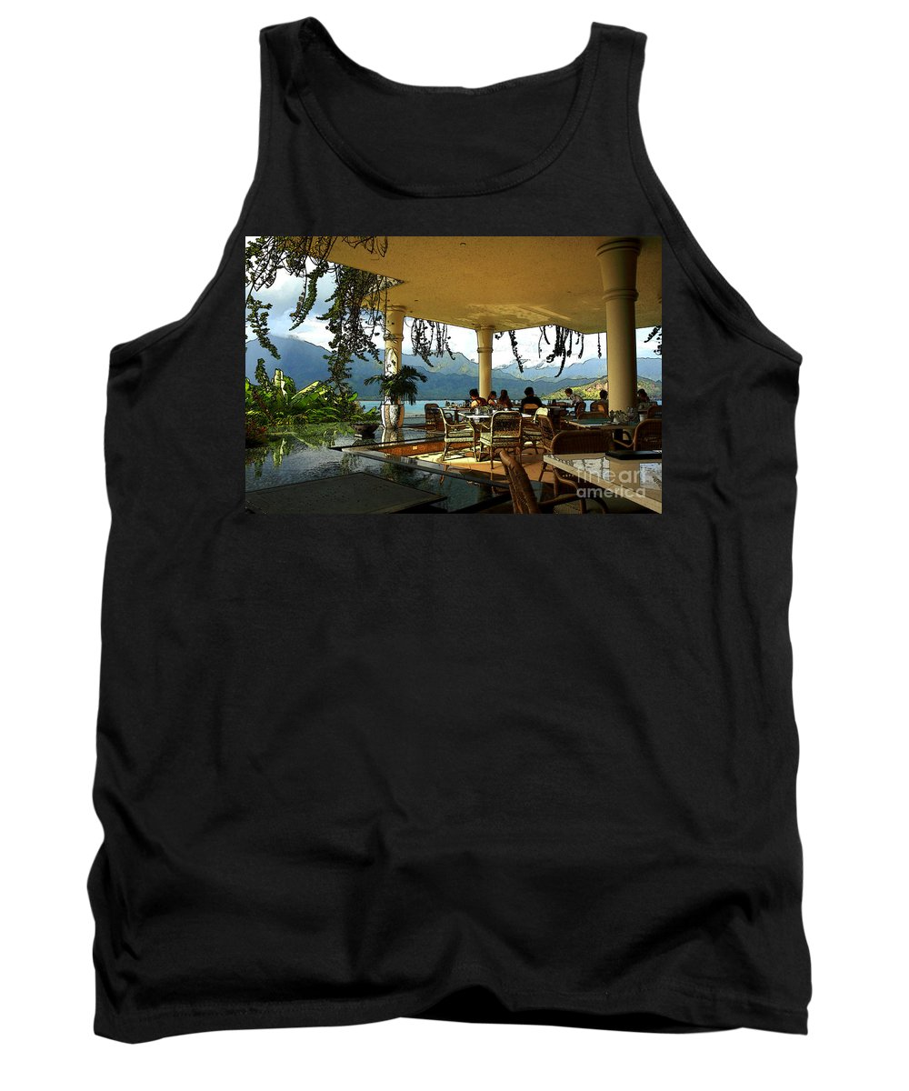 Restaurant Tank Top featuring the photograph Breakfast In Hanalei by James Eddy