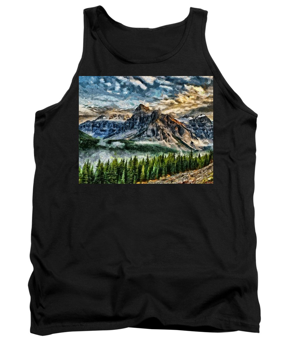 Movie Tank Top featuring the painting Breathe It In by Joe Misrasi