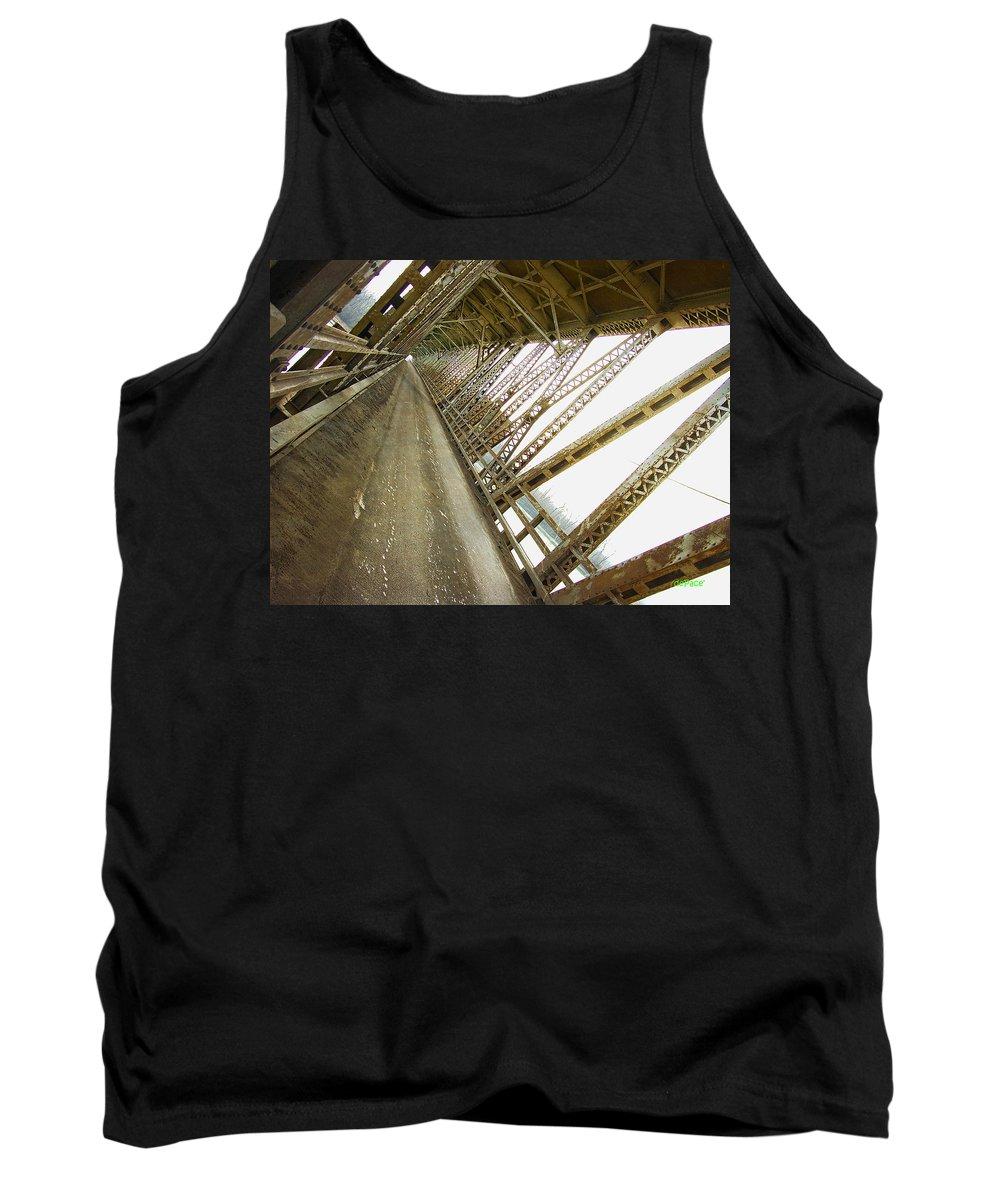 Bridge Too Far Tank Top featuring the digital art Bridge Too Far by KJ DePace