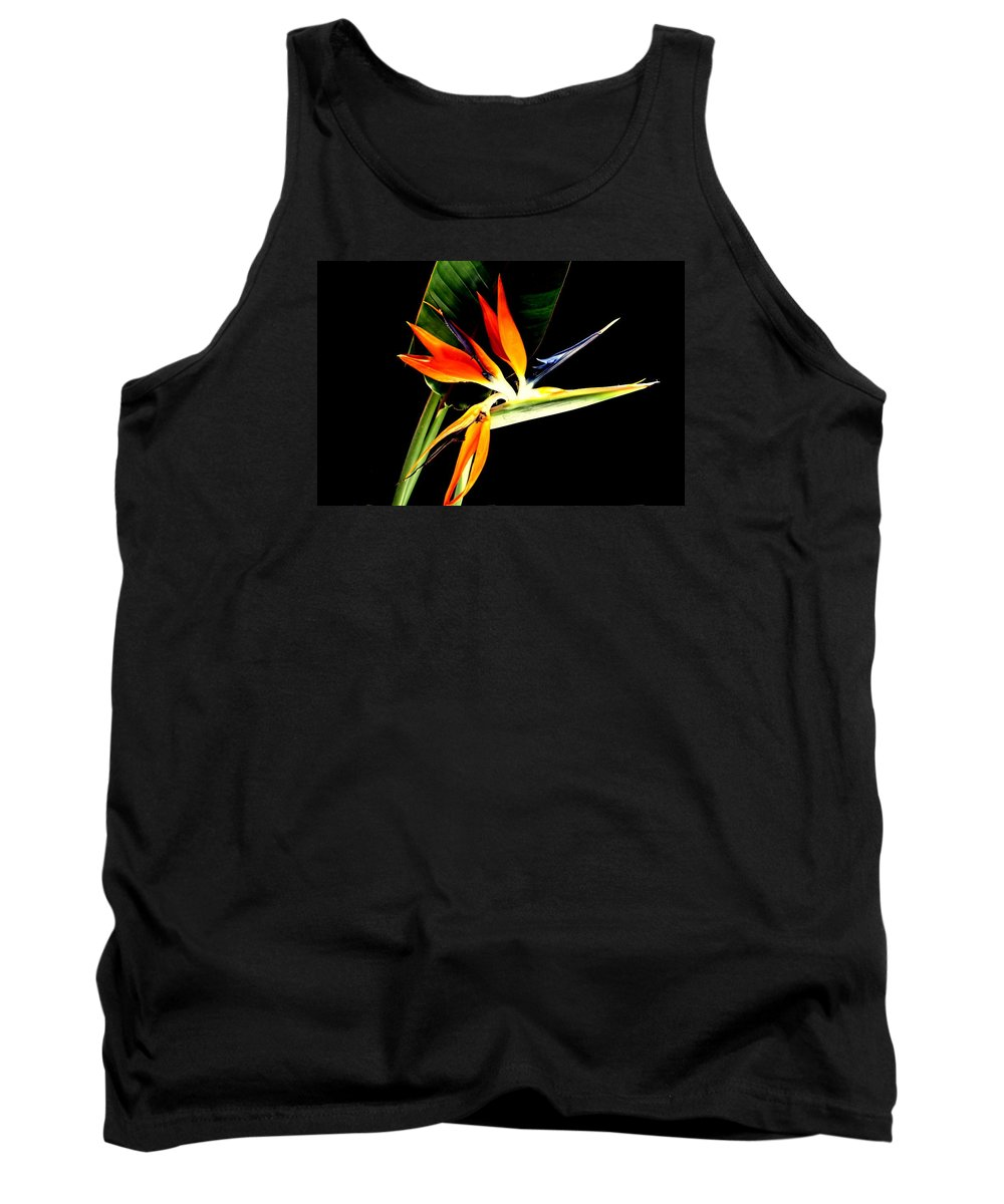 Bird Of Paradise Tank Top featuring the photograph Brilliant by Diane Merkle