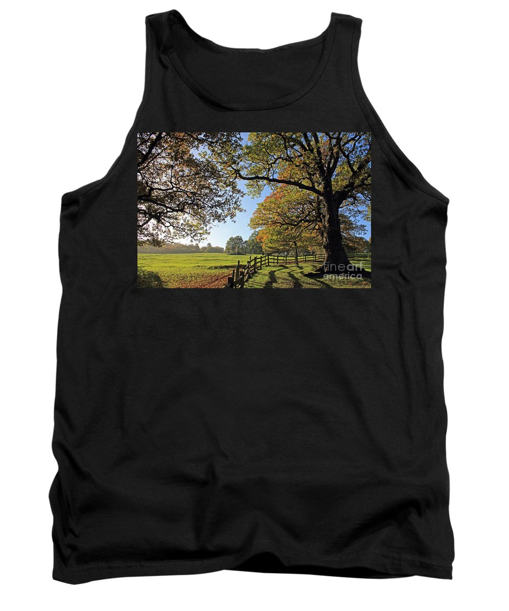 British English Countryside Landscape Tank Top featuring the photograph British Autumn by Julia Gavin