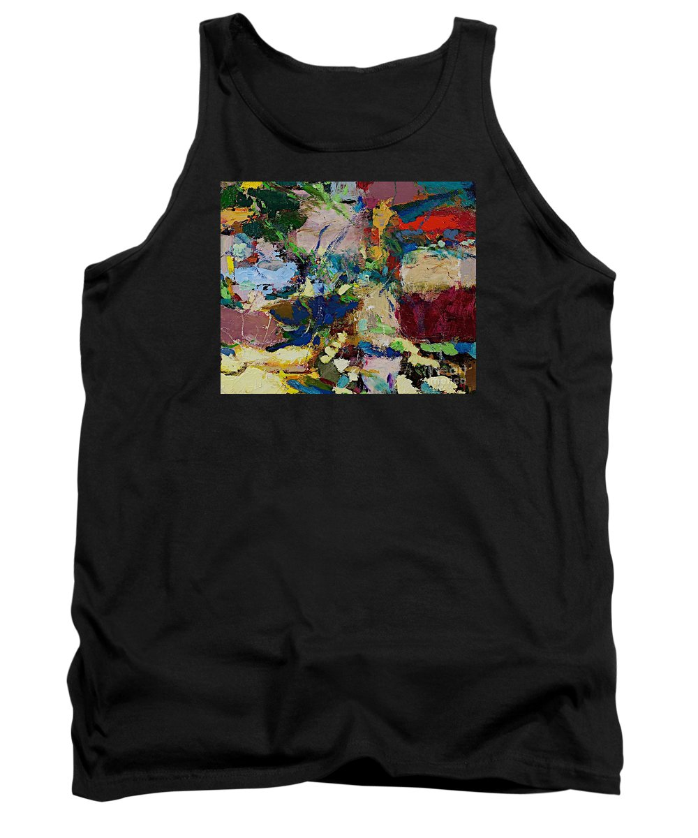 Landscape Tank Top featuring the painting Broad At Jackson by Allan P Friedlander