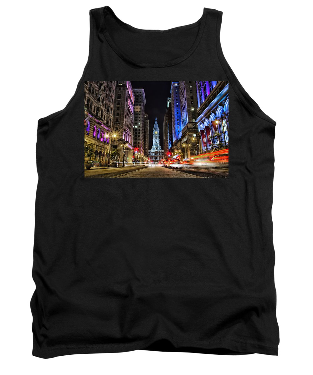 Pa Tank Top featuring the photograph Broad Street South by Raymond Skwire