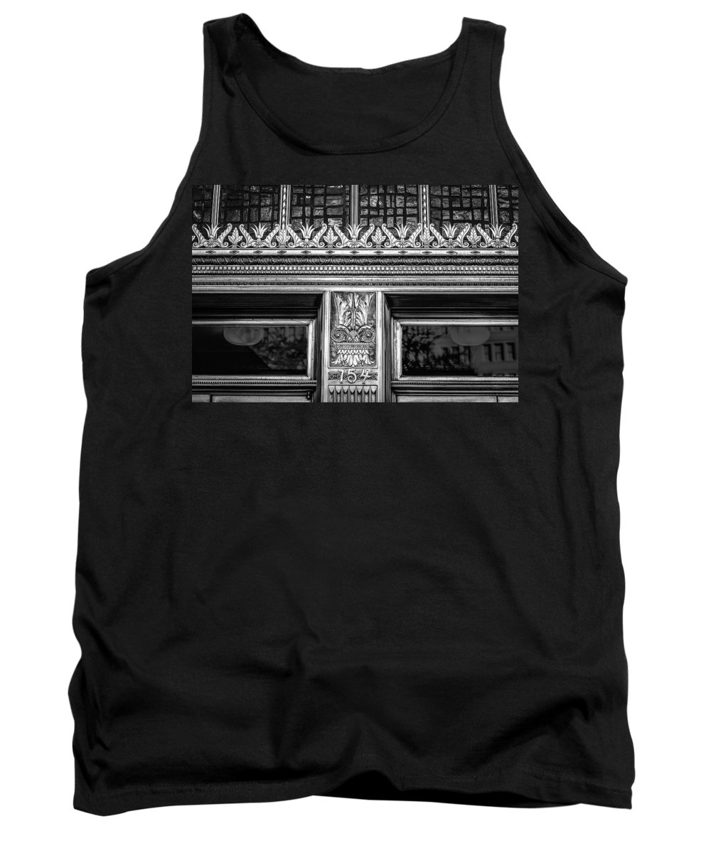 Architecture Tank Top featuring the photograph Bronze Crowns In Black by Melinda Ledsome