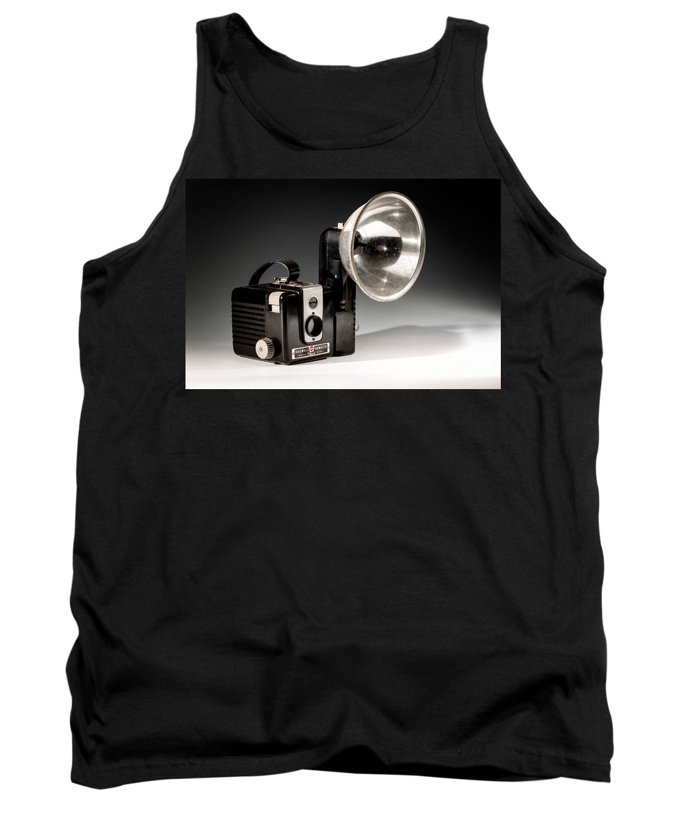 Camera Tank Top featuring the photograph Brownie Hawkeye by Jerry Fornarotto