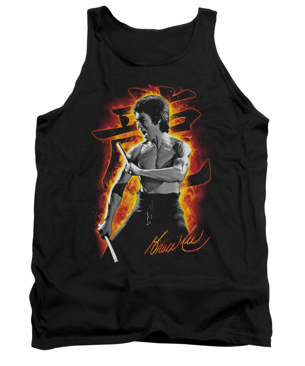 Bruce Lee Tank Top featuring the digital art Bruce Lee - Dragon Fire by Brand A