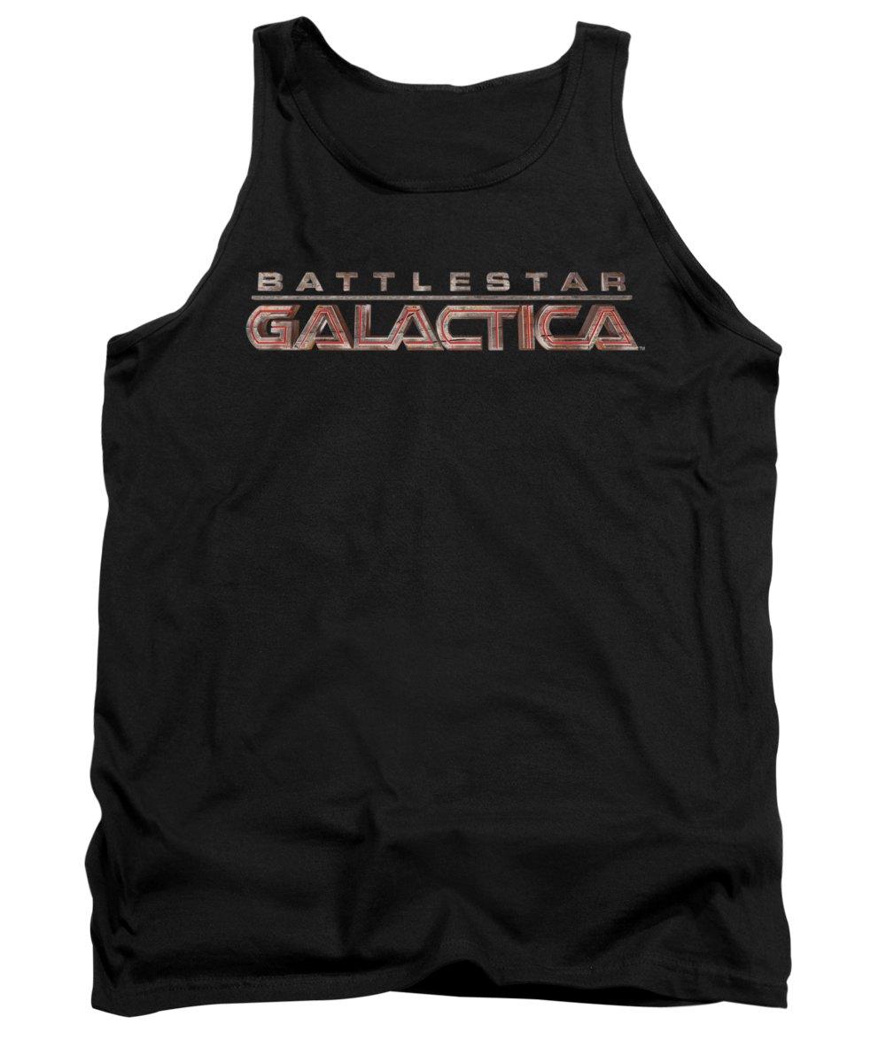 Battlestar Tank Top featuring the digital art Bsg - Logo by Brand A