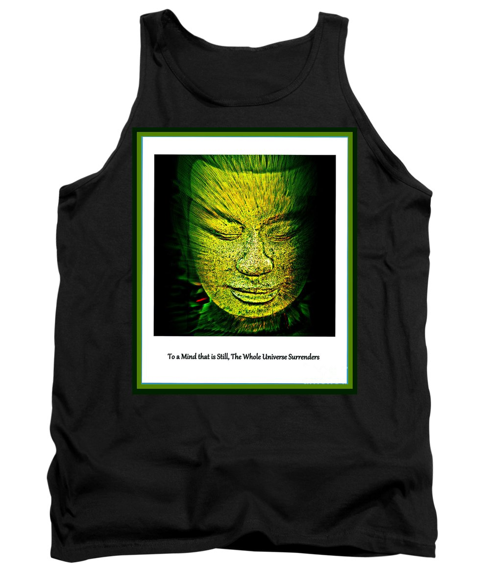 Buddha Tank Top featuring the photograph Buddhas Mind II by Susanne Van Hulst