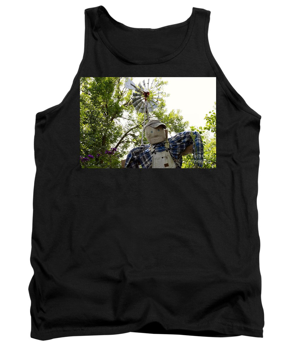 Scarecrow Tank Top featuring the photograph Selfie by David Arment