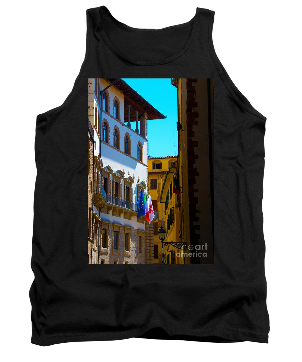 Florence Tank Top featuring the photograph Buildings In Florence Italy by Phill Petrovic