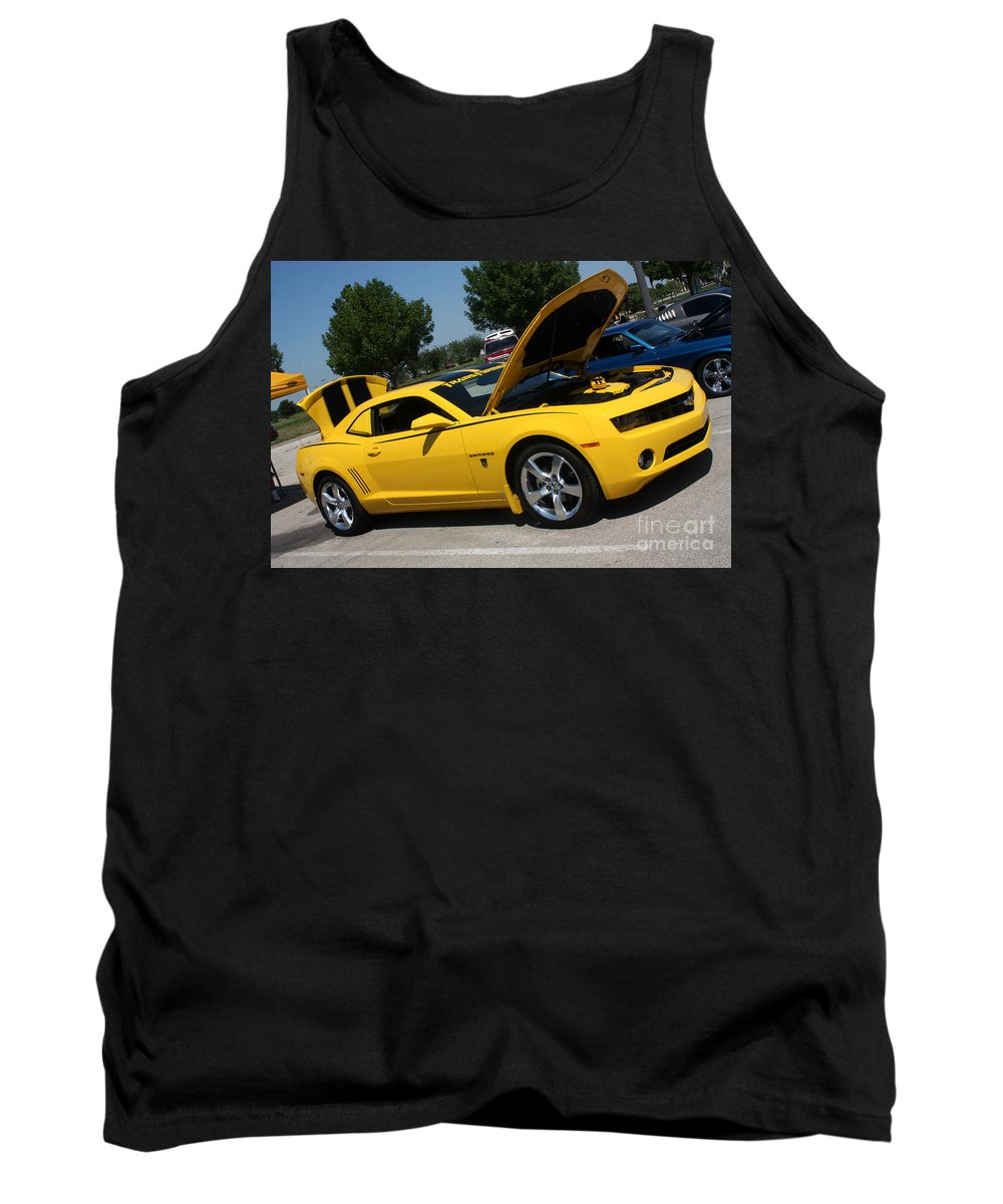 2011 Chevrolet Camaro Tank Top featuring the photograph Bumble Bee Side View 7904 by Gary Gingrich Galleries