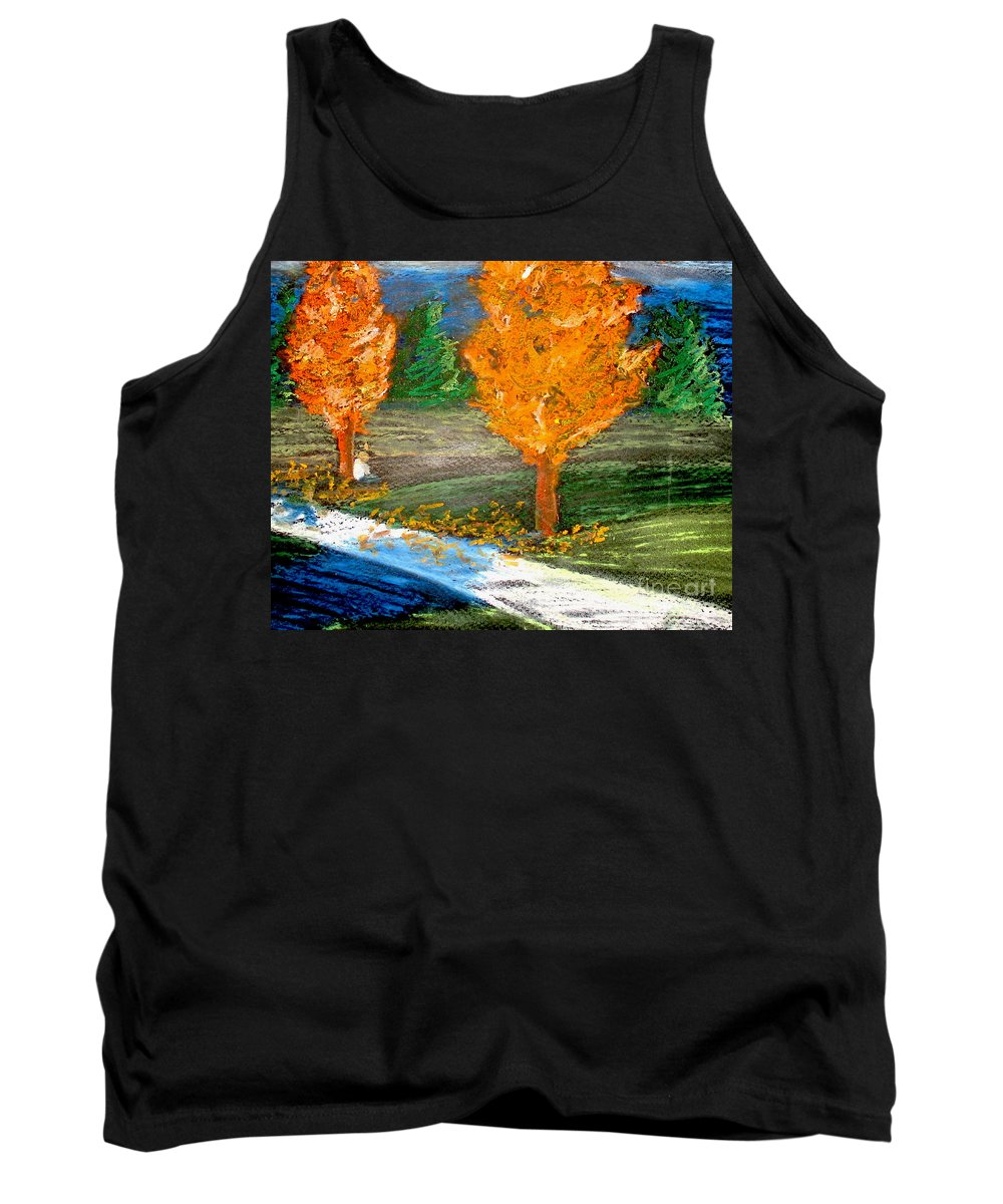Pastel Tank Top featuring the photograph Burning Trees by Ryan Burton