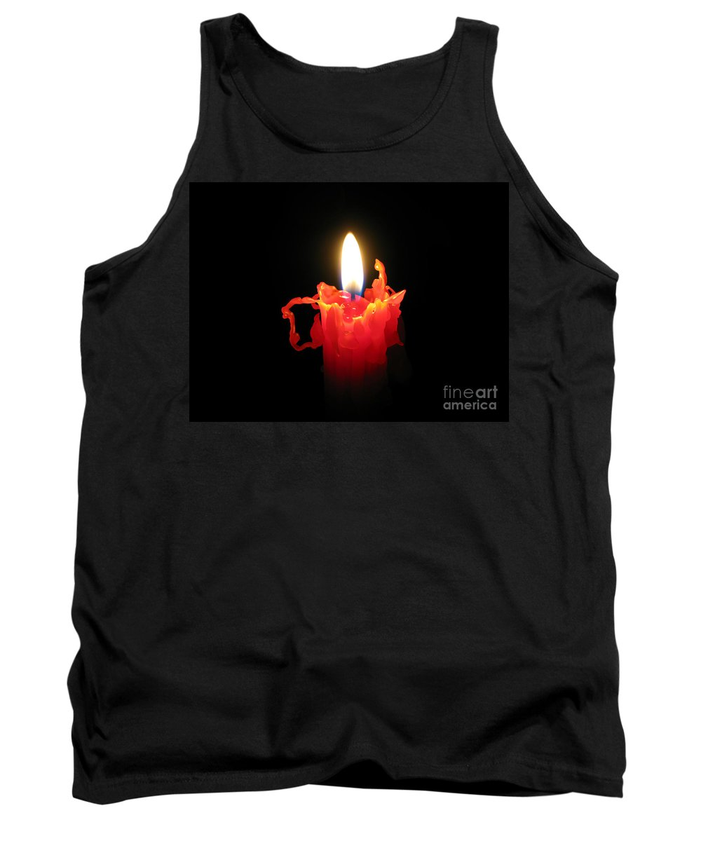 Candle Tank Top featuring the photograph Burnout by Ann Horn