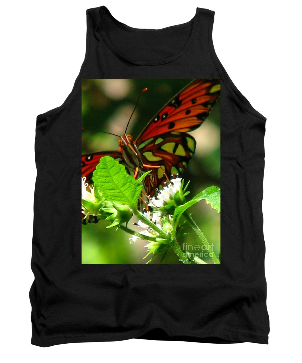 Patzer Tank Top featuring the photograph Butterfly Art by Greg Patzer